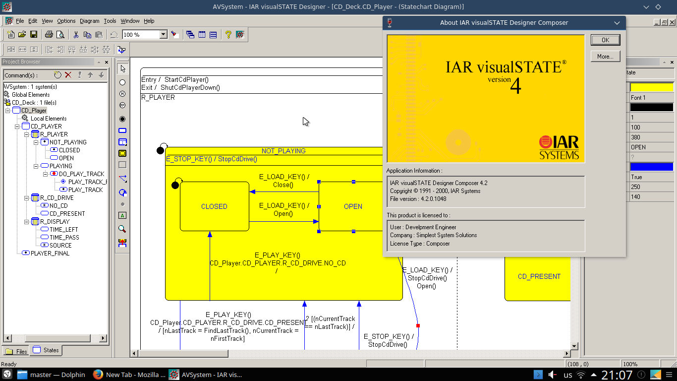 IAR Visual State
